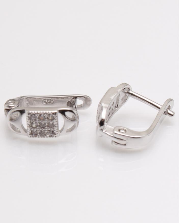 Cercei argint copii cu pietre albe cod 2-23403, gr1.7