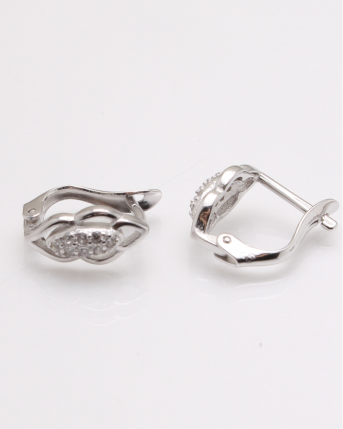 Cercei argint copii cu pietricele albe cod 2-23406, gr1.4