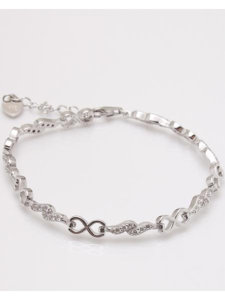 Bratara argint infinit cu pietre albe cod 5-23030, gr7.2