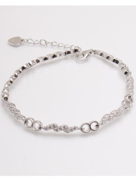 Bratara argint infinit cu pietre albe cod 5-23037, gr7.5