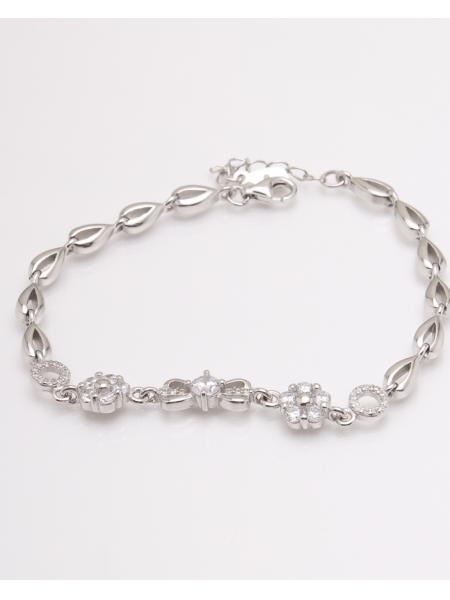 Bratara argint infinit cu 2 flori cod 5-23042, gr7.6