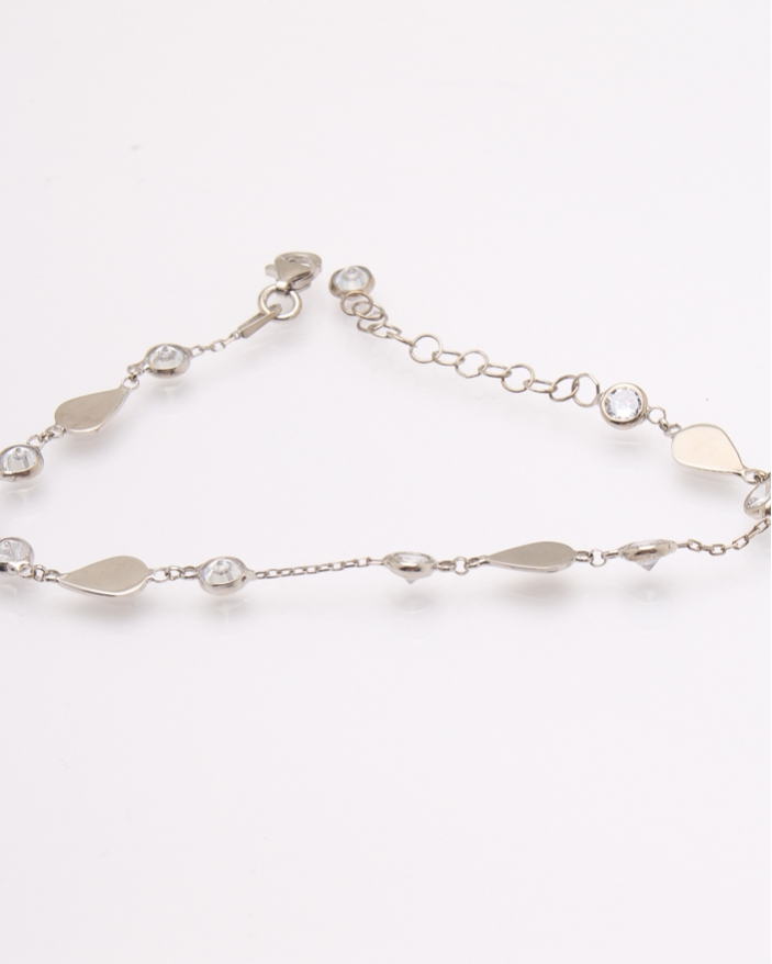 Bratara argint cu placute lacrima cod 5-31121, gr2.8