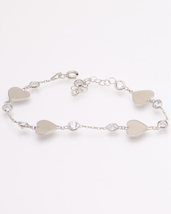 Bratara argint cu inimioare cod 5-31124, gr3.5