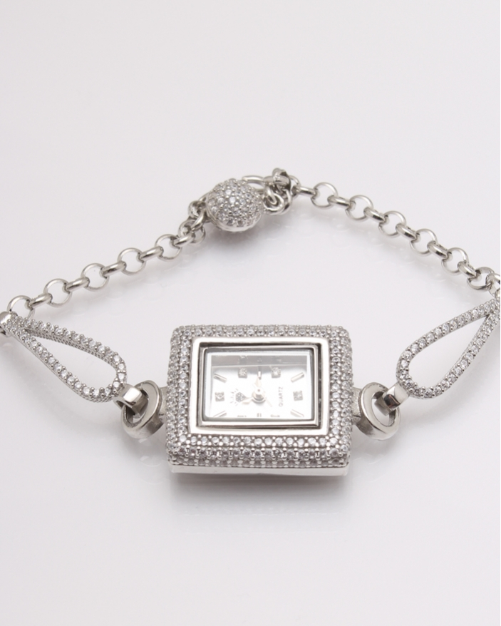 Ceas argint si cubic zirconia cod 7-32067, gr26.9
