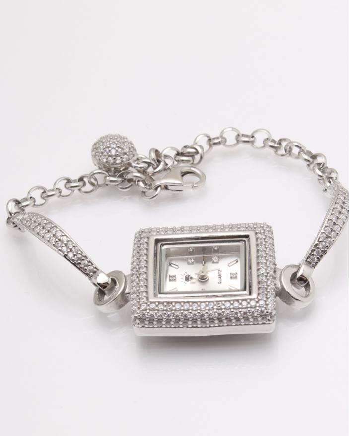 Ceas argint si cubic zirconia cod 7-32069, gr27.5
