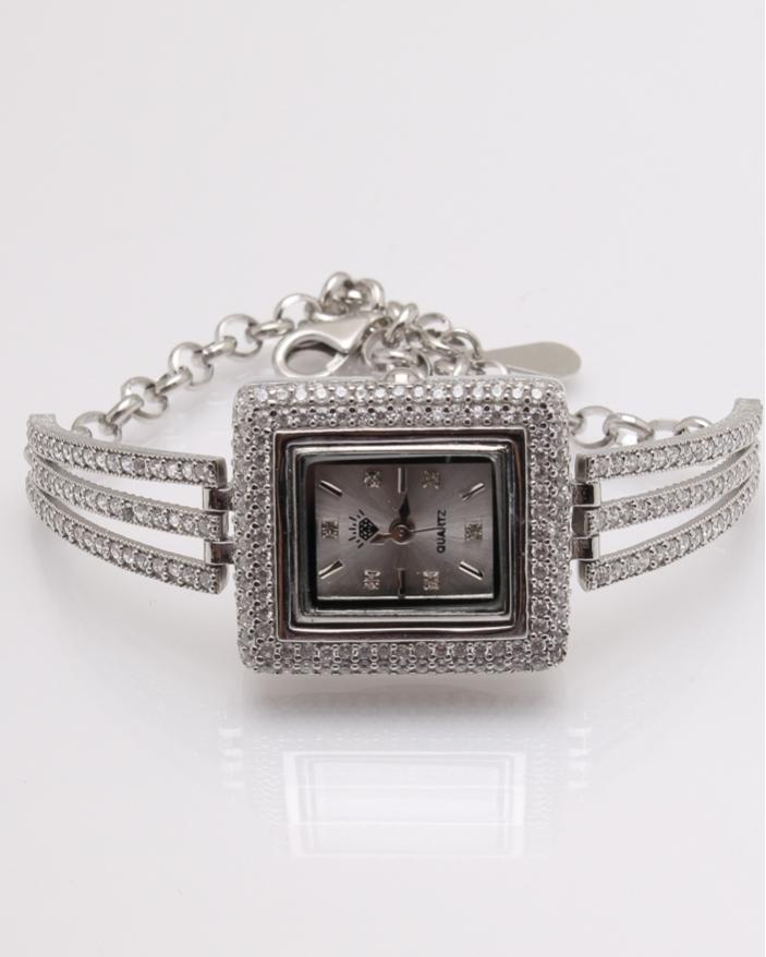 Ceas argint si cubic zirconia cod 7-32070, gr26.1