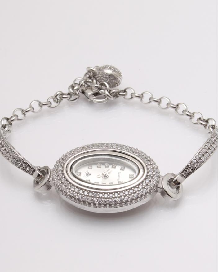 Ceas argint si cubic zirconia cod 7-32076, gr27