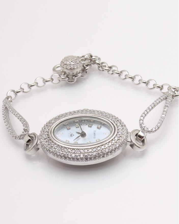 Ceas argint si cubic zirconia cod 7-32077, gr26.5