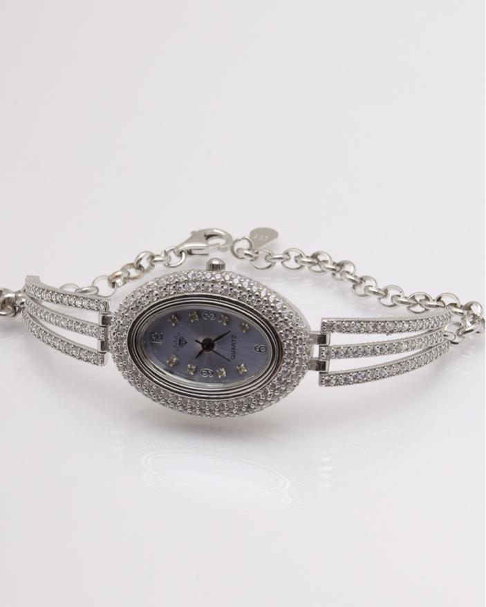 Ceas argint si cubic zirconia cod 7-32078, gr25.9