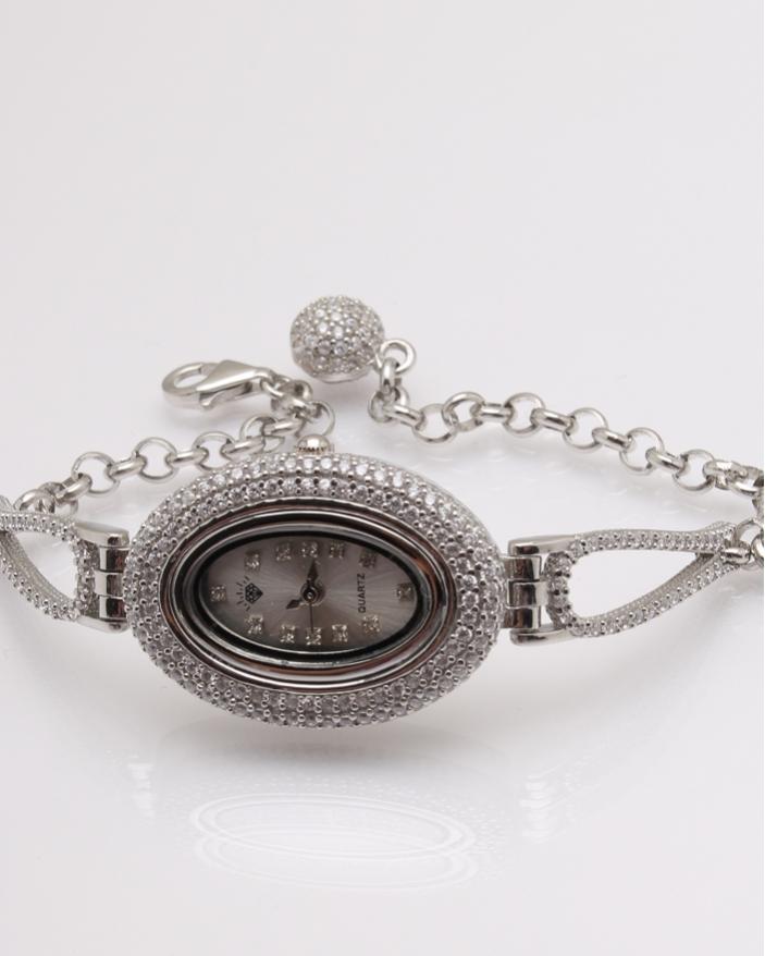 Ceas argint si cubic zirconia cod 7-32079, gr26.6