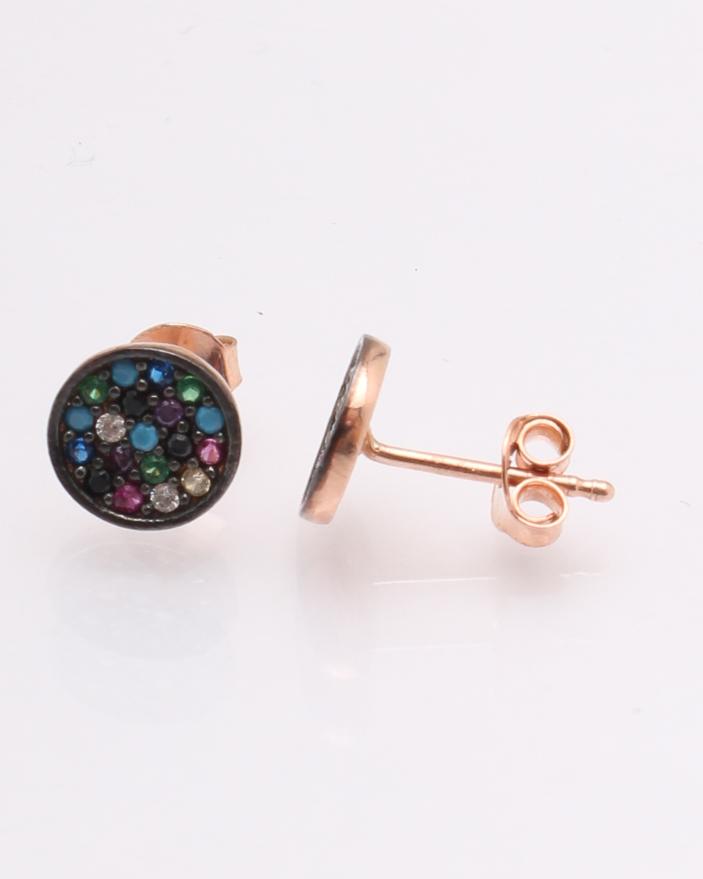 prima rata vânzări speciale vânzător en-gros Cercei argint roz pietre colorate cod 2-18309, gr0.9