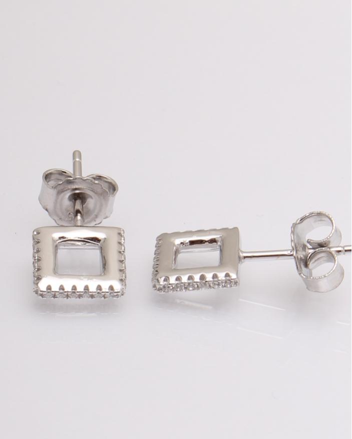 Cercei argint cubic zirconia cod 2-19102, gr1.9