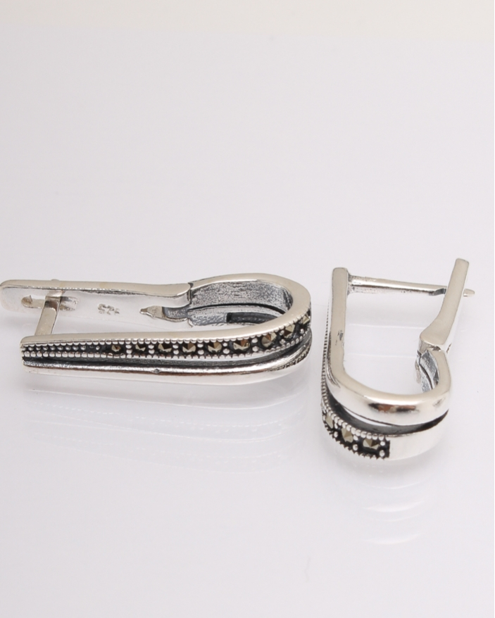 Cercei argint marcasite cod 2-20148, gr5.1
