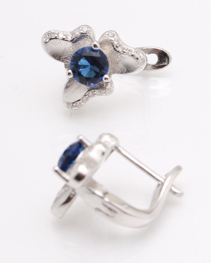Cercei argint piatra albastra cod 2-25342, gr3.9