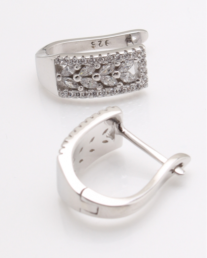 Cercei argint pietre albe cod 2-25345, gr5.2