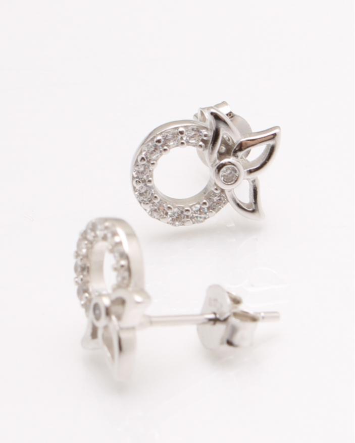 Cercei argint pietre albe cod 2-25365, gr2