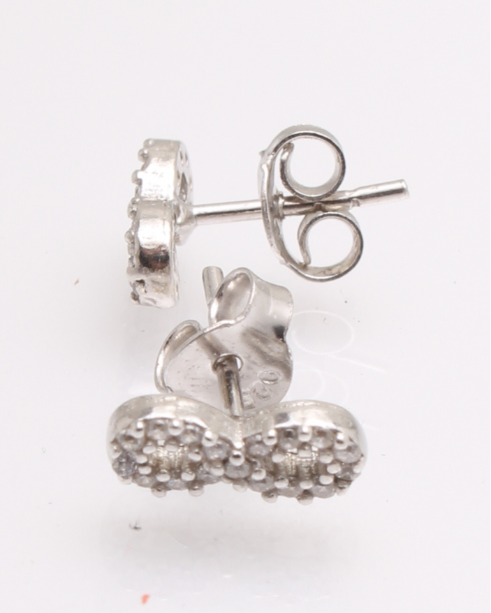 Cercei argint infinit cu pietre albe cod 2-25405, gr1.2