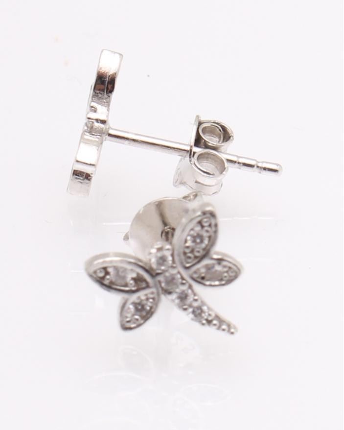 Cercei argint libelula cu pietre albe cod 2-25407, gr0.9