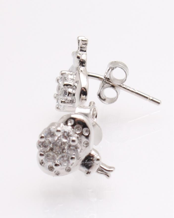 Cercei argint pietricele albe cod 2-25586, gr1.8
