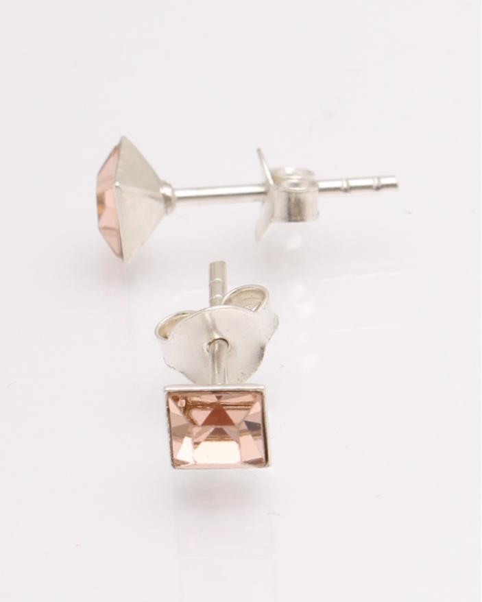 Cercei argint cu cristale patrate cod 2-27111, gr0.6