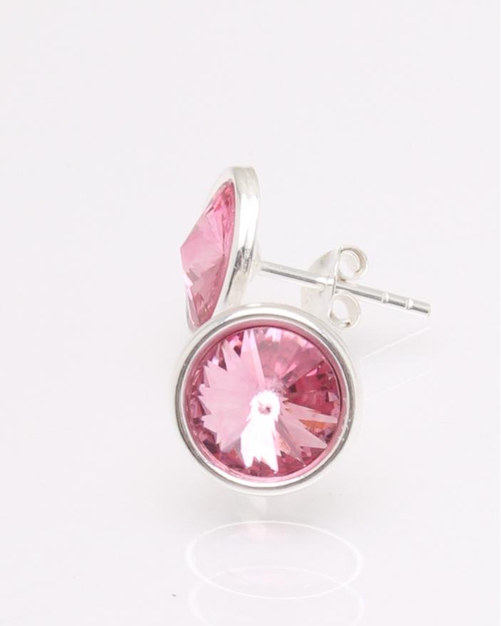 Cercei argint piatra roz cod 2-30729, gr1.6