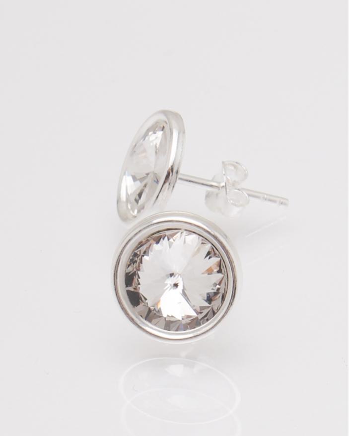 Cercei argint piatra alba cod 2-30731, gr1.5