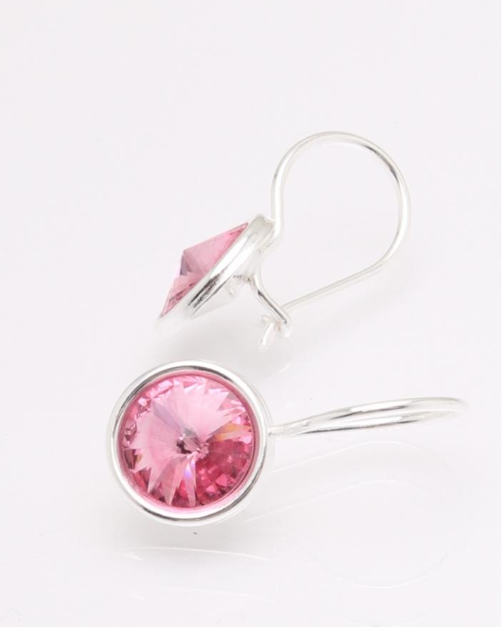 Cercei argint piatra roz cod 2-30735, gr2