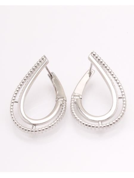 Cercei argint rodiat cod 2-31501, gr5.2
