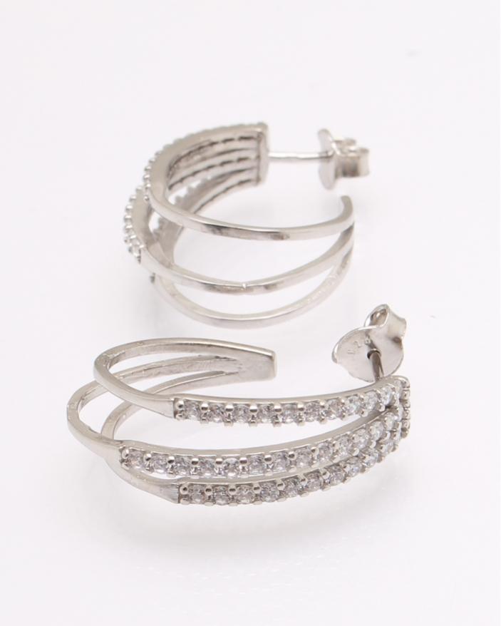 Cercei argint rodiat si cubic zirconia cod 2-31508, gr4.7