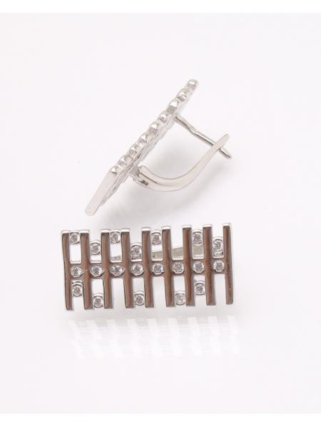 Cercei argint rodiat si cubic zirconia cod 2-31511, gr5.3