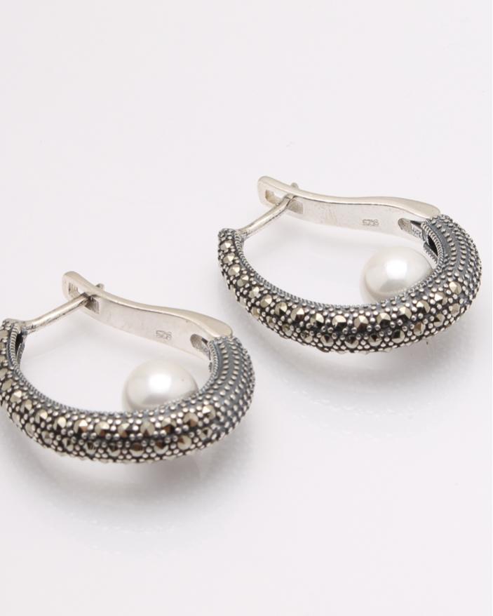Cercei argint cu perle cod 2-32257, gr12.7