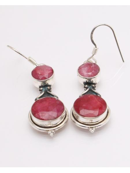 Cercei argint radacina de rubin cod 2-32611, gr7