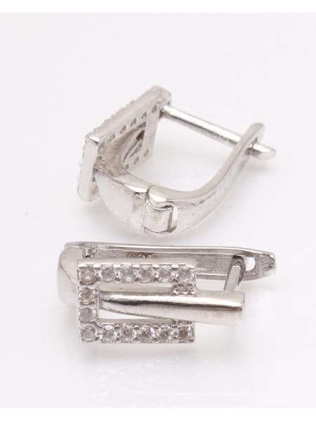 Cercei argint rodiat si cubic zirconia cod 2-33859, gr4.4