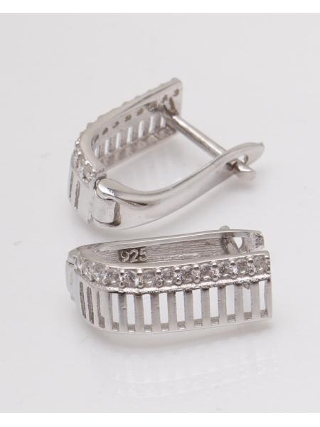 Cercei argint rodiat si cubic zirconia cod 2-33860, gr3.2