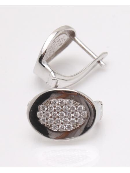 Cercei argint rodiat si cubic zirconia cod 2-33863, gr4