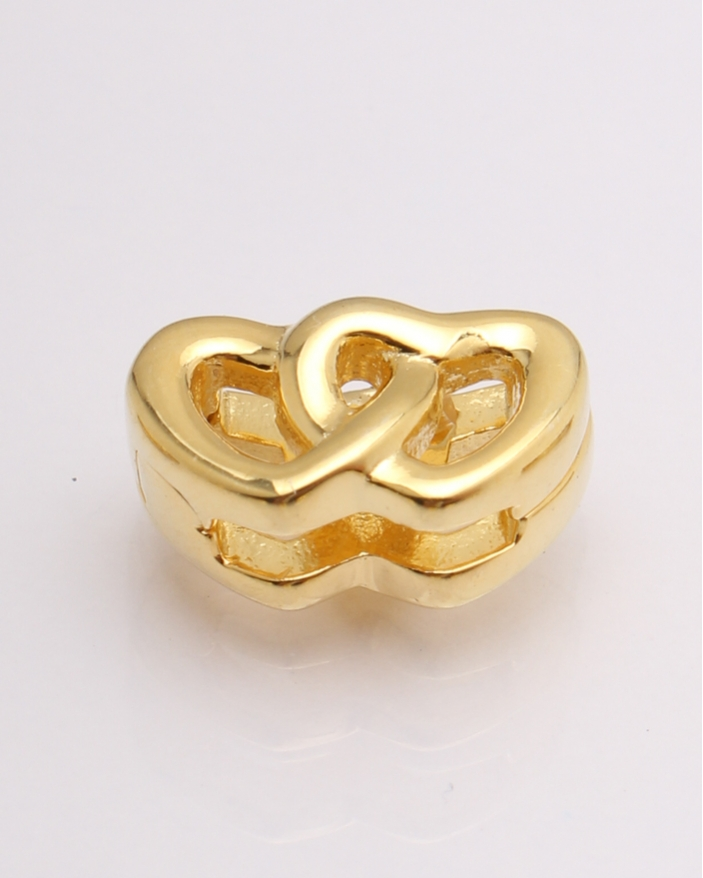 Pandantiv argint galben doua inimi cod 6-20761. gr2