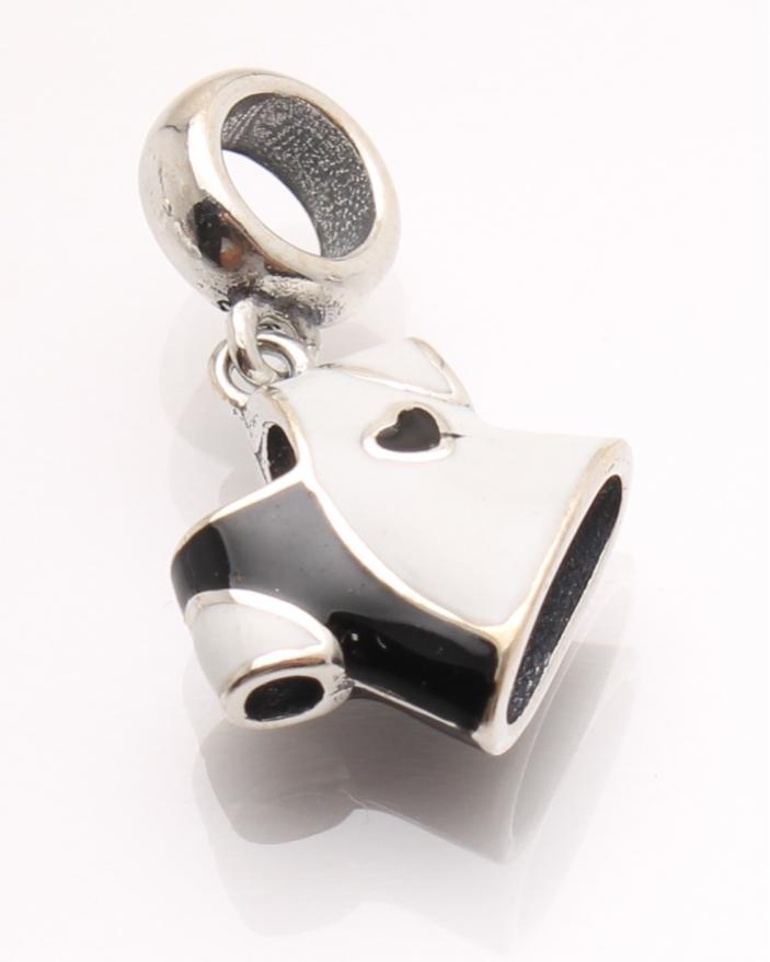Pandantiv argint tricou alb negru cod 6-21456. gr1.8