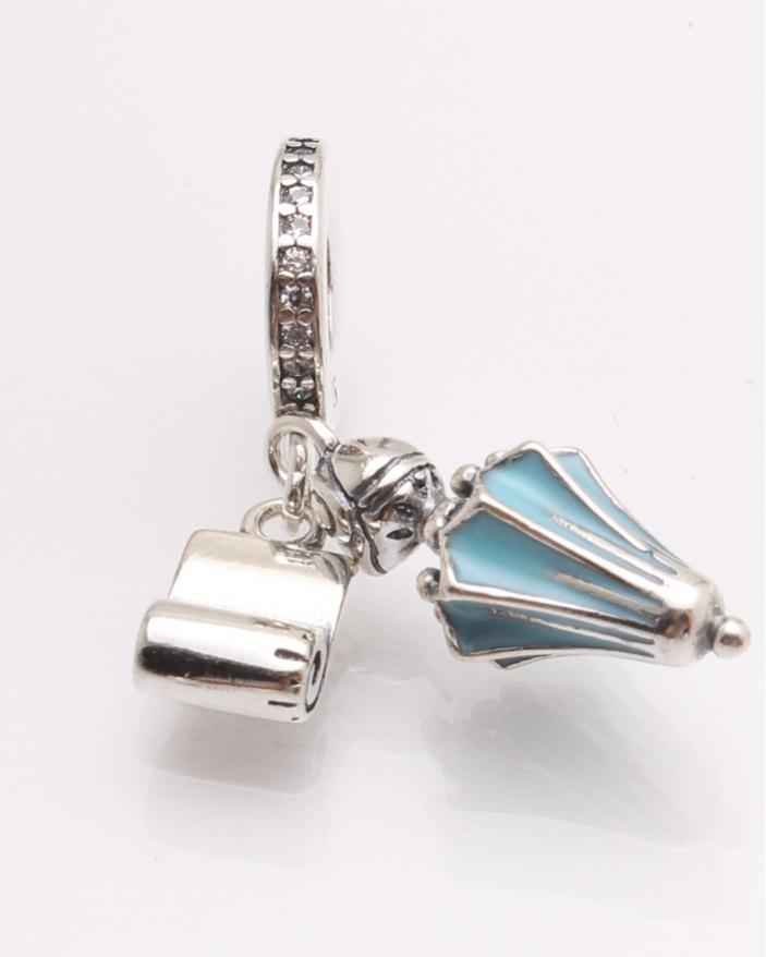 Pandantiv argint umbrela bleu cod 6-21483. gr3.4