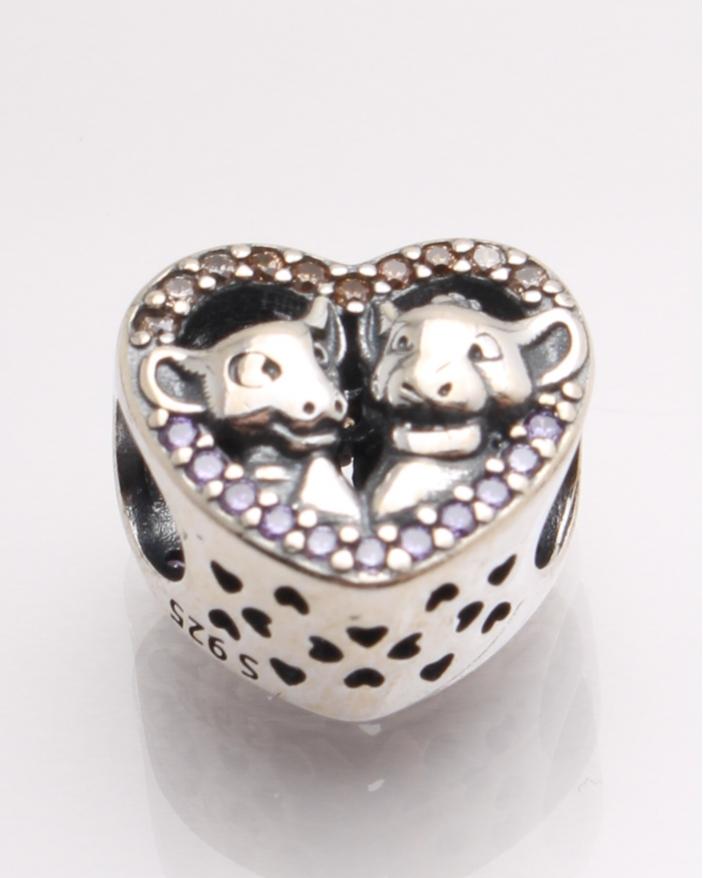 Pandantiv argint in forma de inima si model cu vacute cod 6-21548. gr2.6
