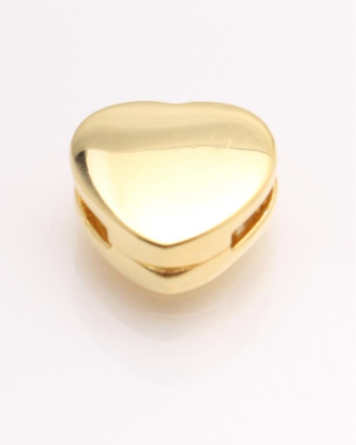 Pandantiv argint, inima galbena simpla cod 6-21706. gr2.9