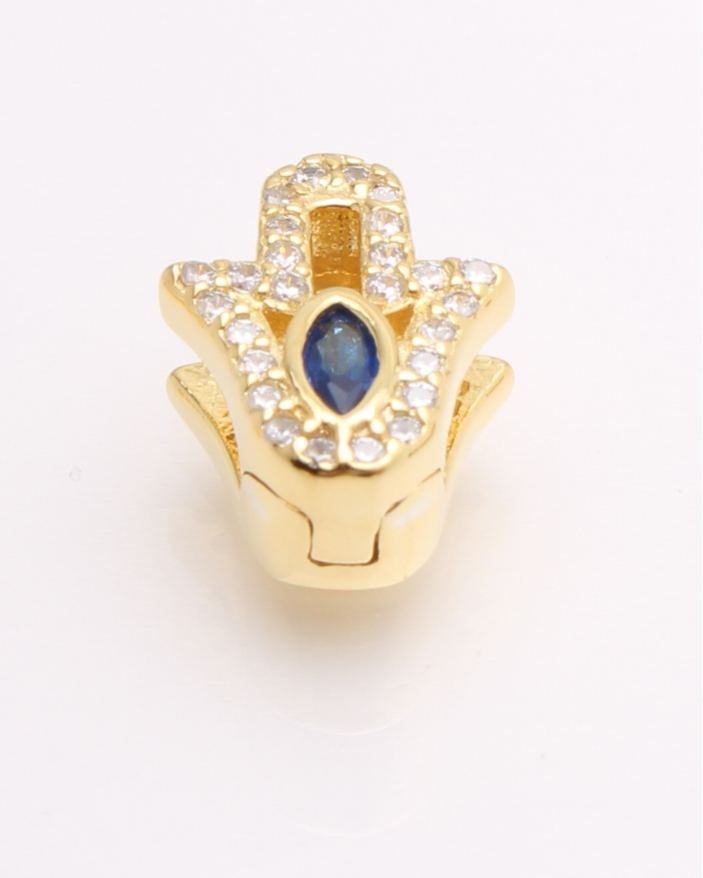 Pandantiv argint, manuta galbena cu piatra albastra cod 6-21707. gr1.7
