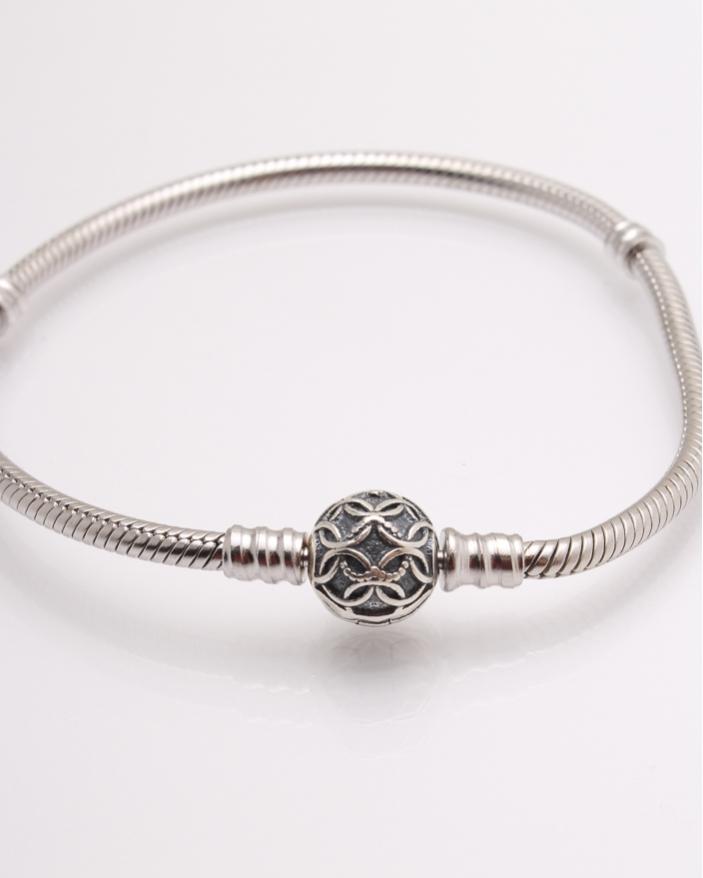 Bratara argint cu cercuri suprapuse cod 5-22090, gr14.3