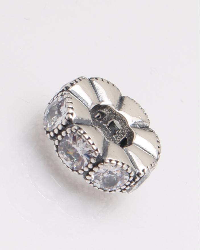 Pandantiv argint saiba cu pietre albe cod 6-27446. gr1.8