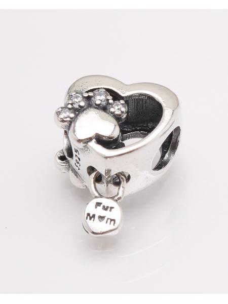 Pandantiv argint inima cu labuta cod 6-27478. gr2.7