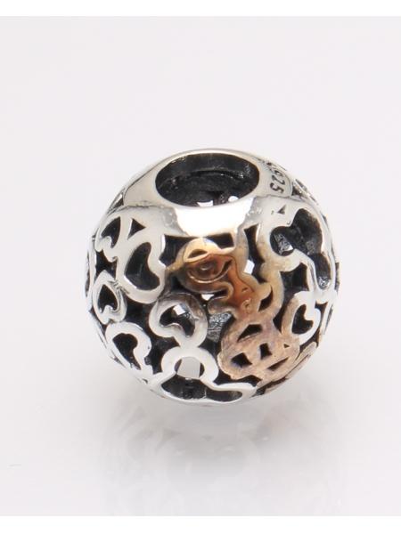 Pandantiv argint rotund cu inimioare cod 6-27489. gr2.3