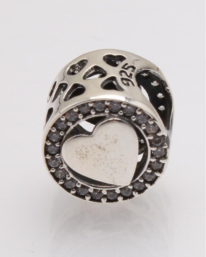 Pandantiv argint rotund inima cod 6-27753. gr1.7