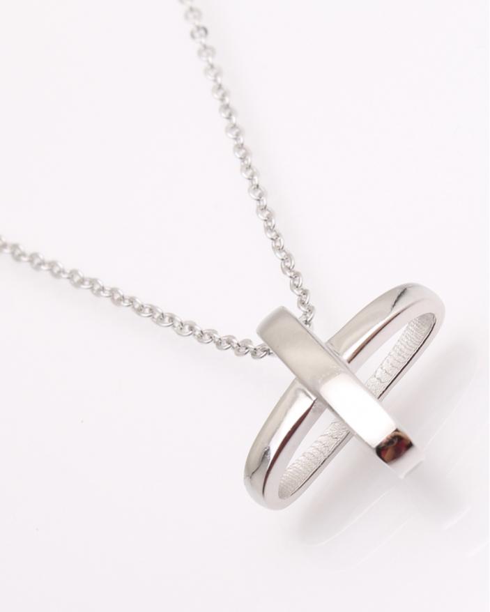 Colier argint tip plus in spatiu cod 4-22152, gr4.3