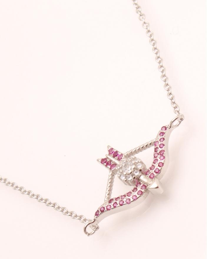 Colier argint tip arc roz cod 4-22158, gr2.7