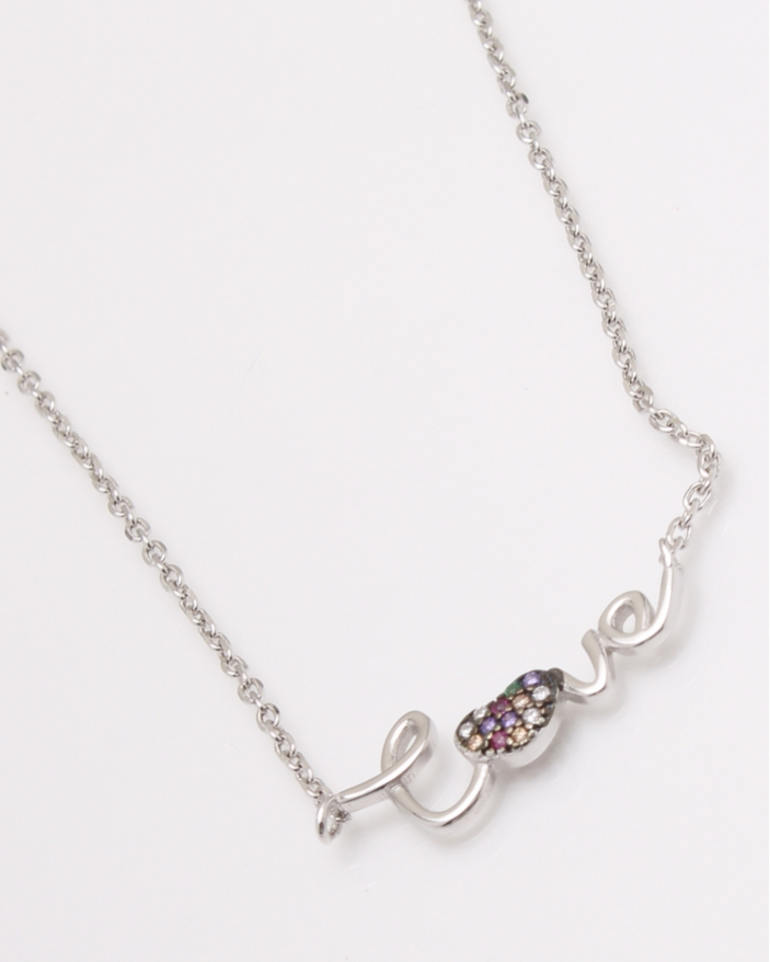 Colier argint LOVE cod 4-23578, gr2.8