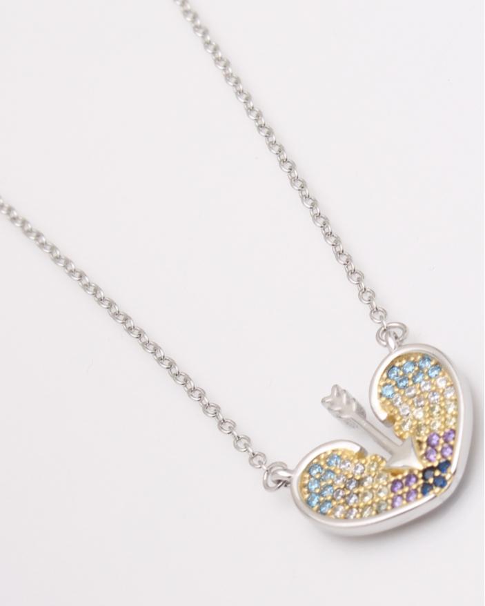 Colier argint inima strapunsa cod 4-23654, gr3.3